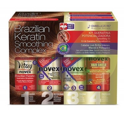 Novex Brazilian Keratin Tratamiento Natural (Smoothing Complex ) Set completo-400g